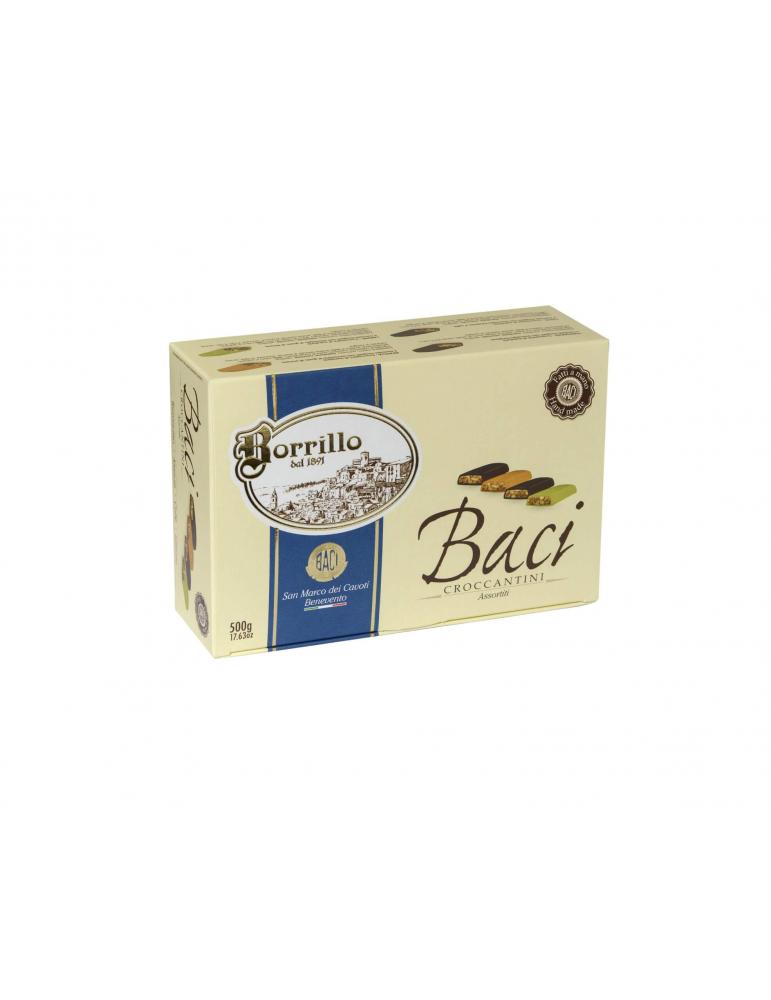 Confezione Baci Croccantini assortiti - 500gr - Torroni Borrillo