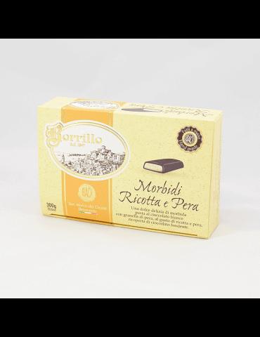 Morbido al gusto di ricotta e pera - 300gr - Torroni Borrillo