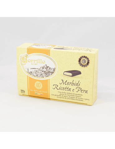 Soft Nougat flavored ricotta and pear - 10,6 oz - Borrillo