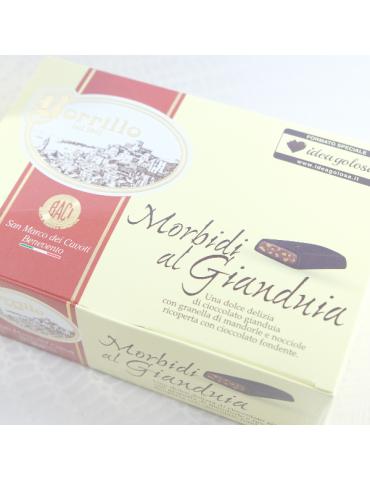 Esclusiva IdeaGolosa - Morbidi al Gianduia - 500gr - Torroni Borrillo