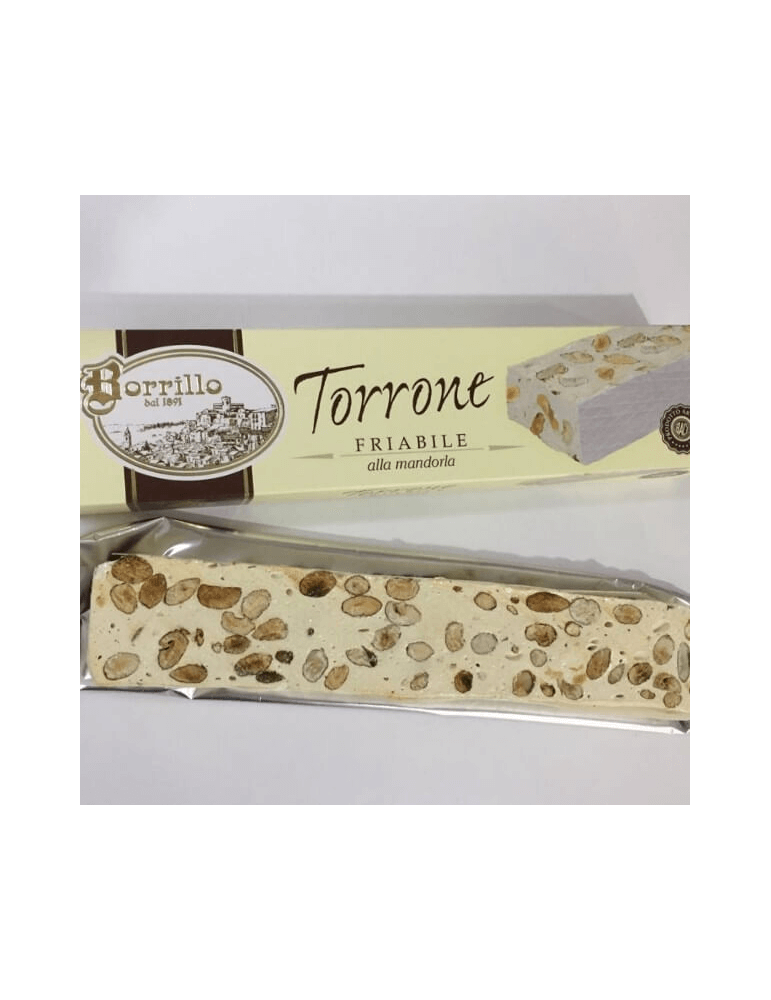 Stecca Nougat Crumbly Almond - Borrillo